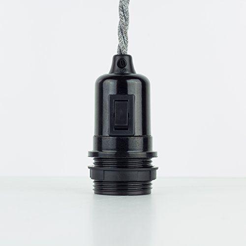 Bakelitfassung Teil-Gewindemantel E27 Bakelit schwarz mit Schalter und Klemmnippel Lightstock http://www.amazon.de/dp/B015J2QB5Q/ref=cm_sw_r_pi_dp_hF1vwb0G53KHF