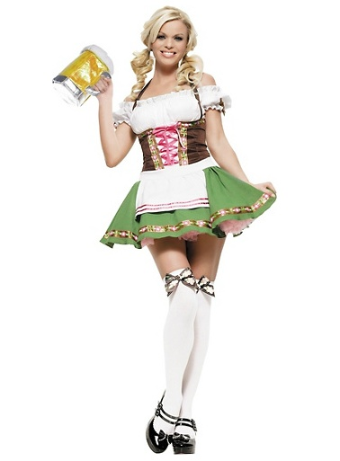 Maybe for Maddie Gretchen Oktoberfest Beer Maid Costume for Adults ,  Halloween City