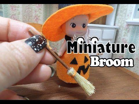 미니어쳐 빗자루 만들기(요~빗자루로 청소해보세요~ㅎㅎ)/miniature broom/ミニチュア ほうき - YouTube