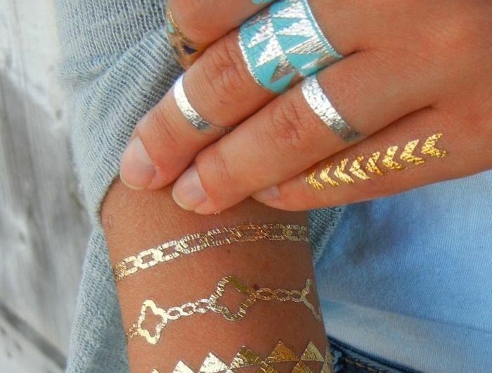 significations-tatouages-tatouages-géométriques-doré-et-bleu