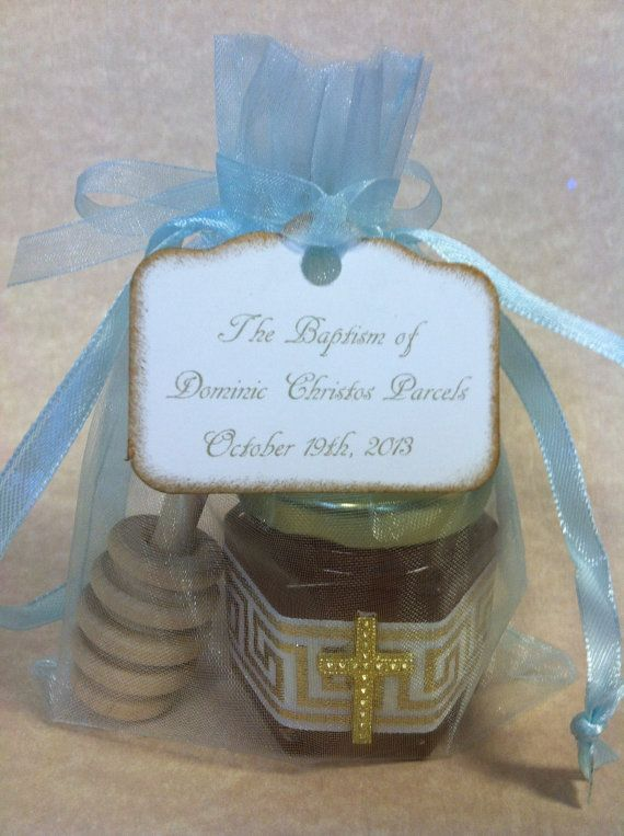 Greek Baby Baptism Favors with Personalized Tags and by holyhoney, $5.00