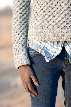 great knit pattern. I love the edging stitch pattern