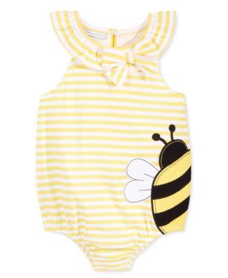 First Impressions Baby Girls' Yellow Bee Sunsuit, Only at Macy's