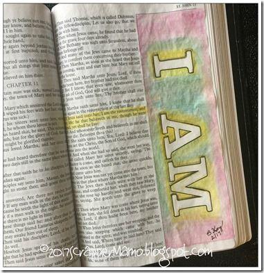 Bible Art John 11-25 I AM