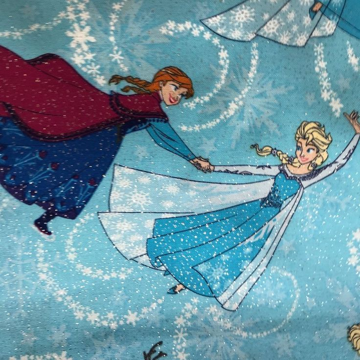 NEW on the bolt, by the yard, multiples available #Disney #Frozen Sisters Ice #Skating Toss #Olaf Glitter Cotton Fabric by the Yard  #elsa #anna #glitter #SpringsCreativeProductsGroup check our other Disney fabrics
