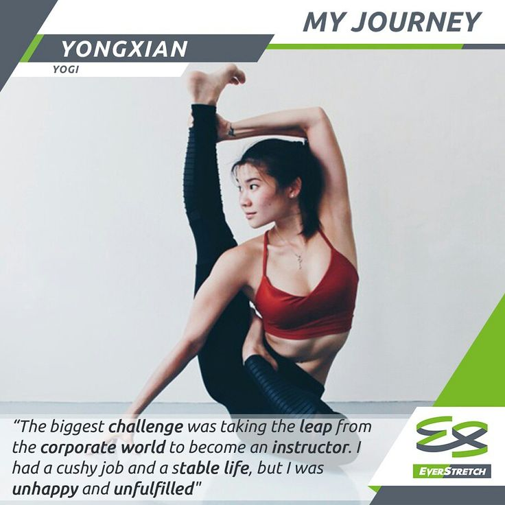 read how @yongxianyoga left the corporate world and took a leap of faith to become a yoga instructor at http://everstretch.co/blog/my-journey/tham-yongxian-interview or visit our website www.everstretch.co #yoga #yogini #challenges #champion #athlete #amazing #success #inspirational #motivational