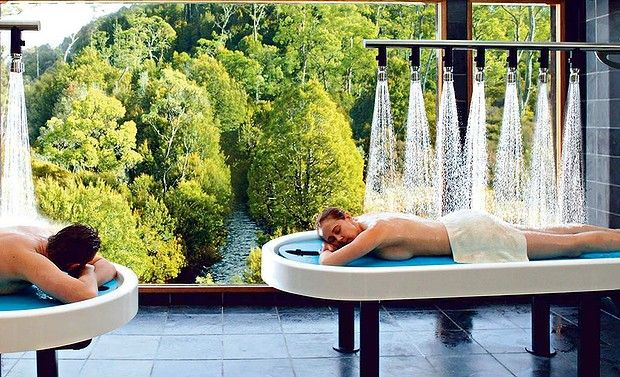Australia's best hotel spas.  Peppers Cradle Mountain Lodge, Cradle Mountain, Tasmania. At this spa you can soak in the hot tub while admiring towering King Billy pines and fresh mountain streams that run through the wilderness.