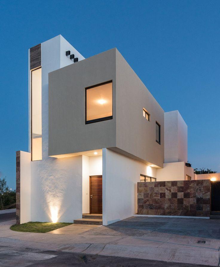 Bonita casa habitacion zibata queretaro piixan for Diseno exterior casa contemporanea