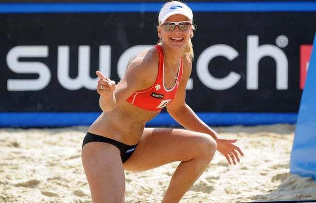 Sophie Van Gestel Is Listed Or Ranked 9 On The List The Most Stunning Female Volleyball Players Female Volleyball Players Volleyball Players Women Volleyball
