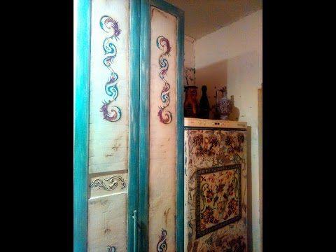 Видео мастер-класс: декорируем холодильник в технике декупаж и преображаем старый шкаф - Ярмарка Мастеров - ручная работа, handmade