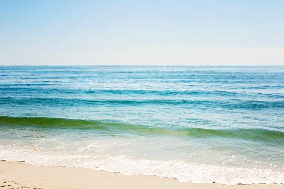 Seascape Ocean Canvas large beach wall art blue by CarolynCochrane