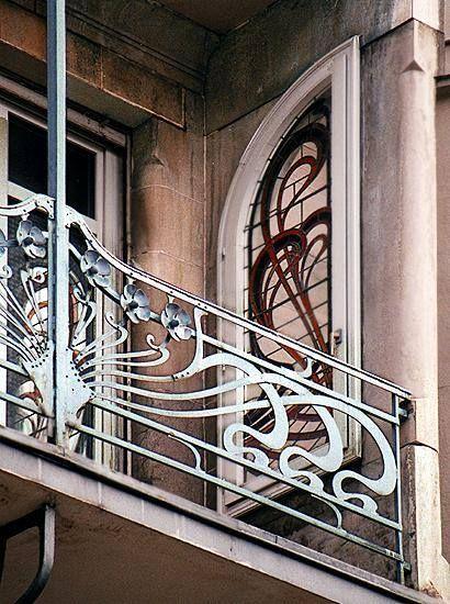Балкон в Страсбурге / Art Nouveau balcony Strasbourgh