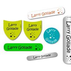 Le Pack Découverte d'étiquettes autocollantes et thermocollantes personalisées