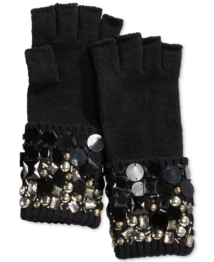 Michael Michael Kors Embellished Cuffed Gloves