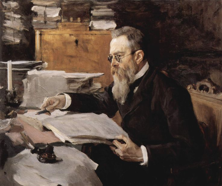 Nikolai Rimsky-Korsakov - Russian composer, and a member of the group of composers known as The Five. He was a master of orchestration.