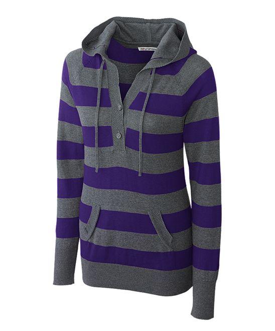 College Purple Knockout Sweater - Women & Plus