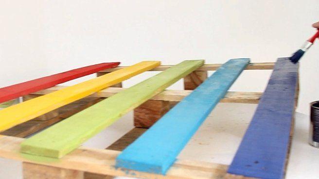 Tete lit palette manutention multicolore