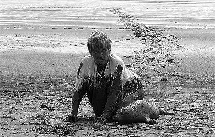 Lenie 't Hart, dierenverzorgster en dierenactiviste. Vangt zieke en verzwakte zeehonden op in de zeehondencrèche in Pieterburen.