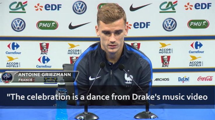 Griezmann: My celebration against Ireland was copied from a Drake video