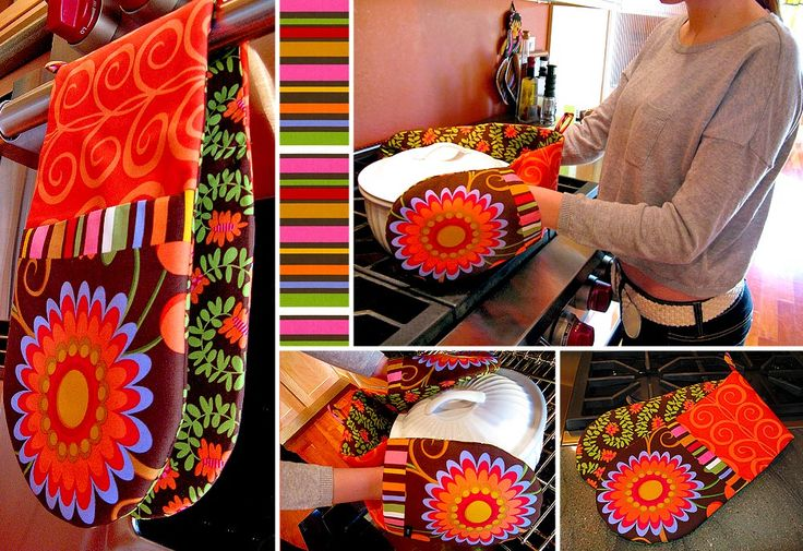 Two-Handed Pot Holder. Mix up the prints for a cheery result.