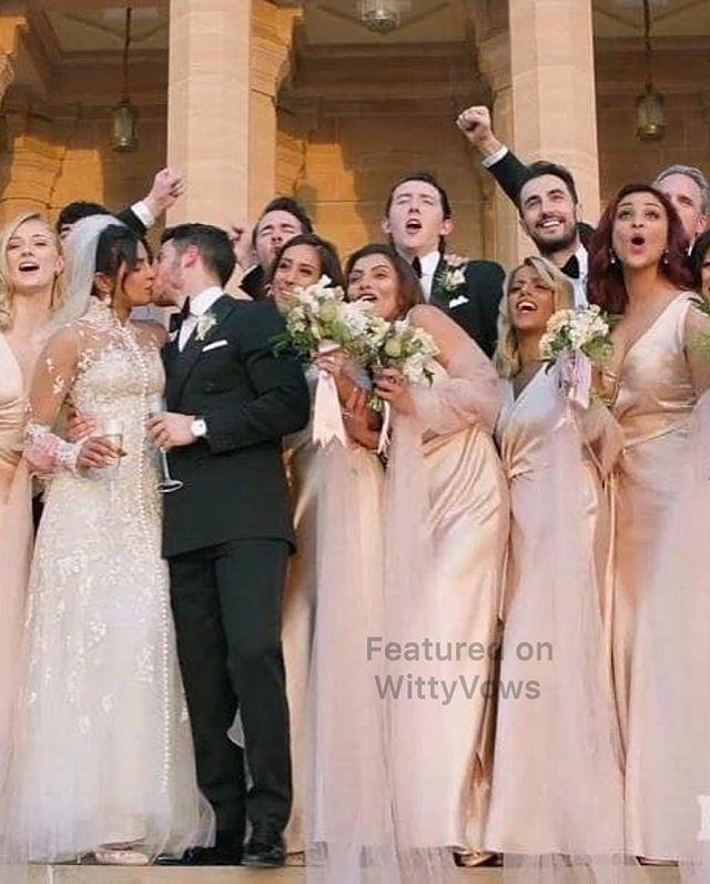 49ae5a8376 Priyanka Chopra and Nick Jonas Wedding | Priyanka Chopra in custom Ralph  Lauren wedding gown | Nick Jonas in a Tuxedo | Christian Wedding ceremony |  White ...