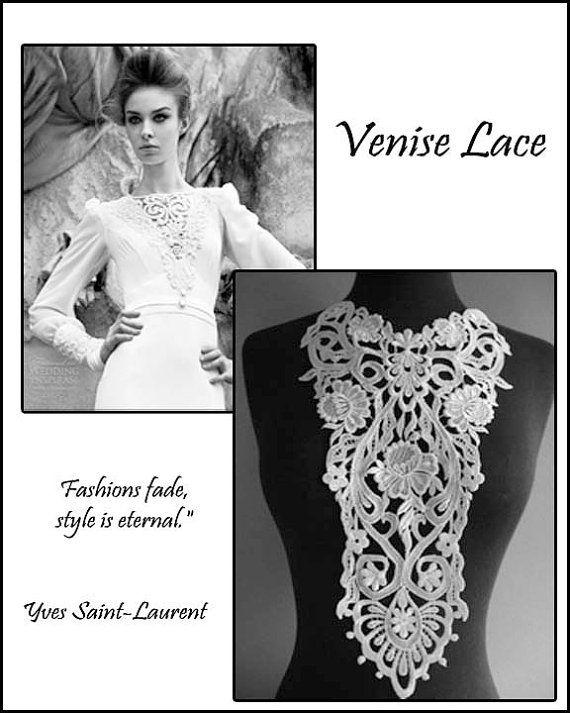 Venise lace applique lace appliques guipure by Threads2Trends, $8.50