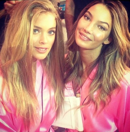Image via We Heart It #backstage #DoutzenKroes #LilyAldridge #models #personal #Victoria'sSecret #vs #vsfs