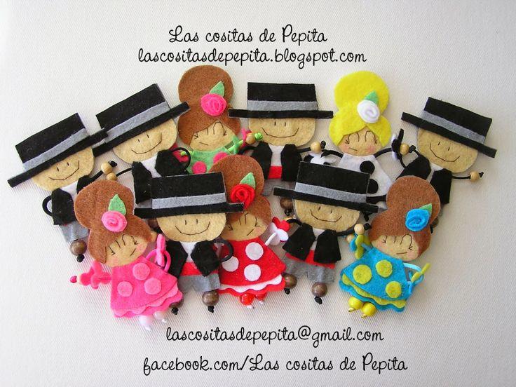 Las cositas de Pepita: Flamencas y Flamencos de Fieltro