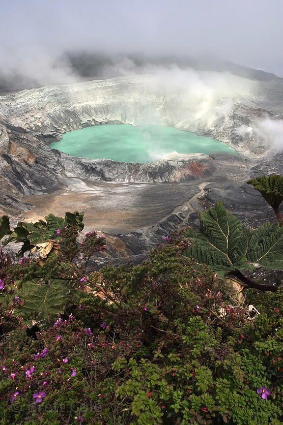 Poás Volcano, Central Costa Rica - Laguna Botos and the crater of Volcan Poas