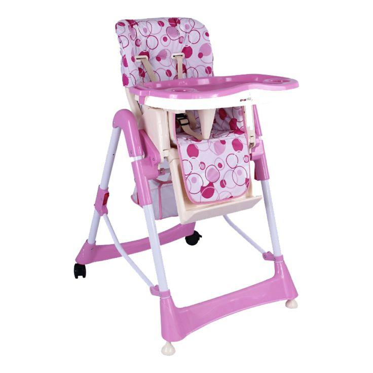 Scaun de masa DHS 810 destinat copiilor cu varsta cuprinsa intre 6 si 36 de luni, prevazut cu tavita detasabila, care poate fi curatata cu usurinta. Sezutul scaunului este prevazut cu centuri de siguranta cu prindere in 5 puncte astfel incat siguranta copilului, impreuna cu confortul sau pe tot parcursul mesei sunt asigurate. Picioarele scaunului sunt fixe in fata si pe roti in spate, dar sunt prevazute cu un sistem de blocare, deci stabilitatea lui este garantata in permanenta.
