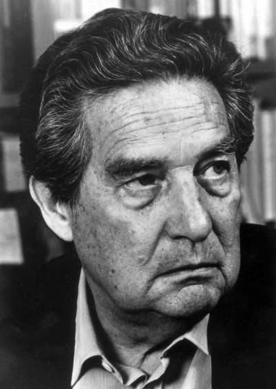 Octavio Paz (1914-1998), was a Mexican author and diplomat. In his youth he was encouraged by Pablo Neruda to write. He fought for the Republicans in the Spanish Civil War. He became one of the most important writers of the 20th century in Latin America, and was a diplomat until 1968 when Tlatelolco massacre took place. He spoke in favor of justice and freedom. His work was influenced by surrealism. Paz won the Nobel Prize for Literature in 1990.