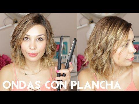 Ondas con Plancha | Pelo Corto - YouTube