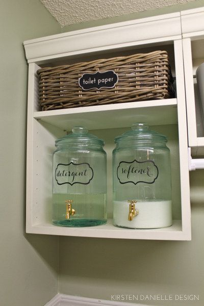 You can also decant your fabric softener. | 29 Brilliant Ways To Organize Your Laundry Room