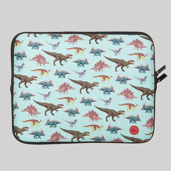 Dinosaur laptop case from Designvonal by DesignvonalShop on Etsy