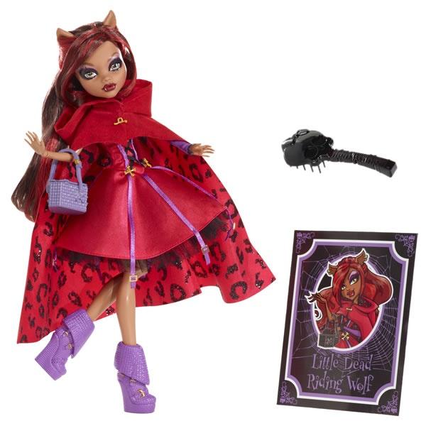 Clawdeen Wolf als 'Rotwölfchen' X4485 aus: Monster High Märchen-Monster X4483 Puppen Sortiment