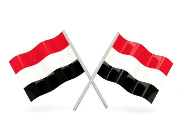 Two wavy flags. Download flag icon of Yemen at PNG format www.freeflagicons.com.