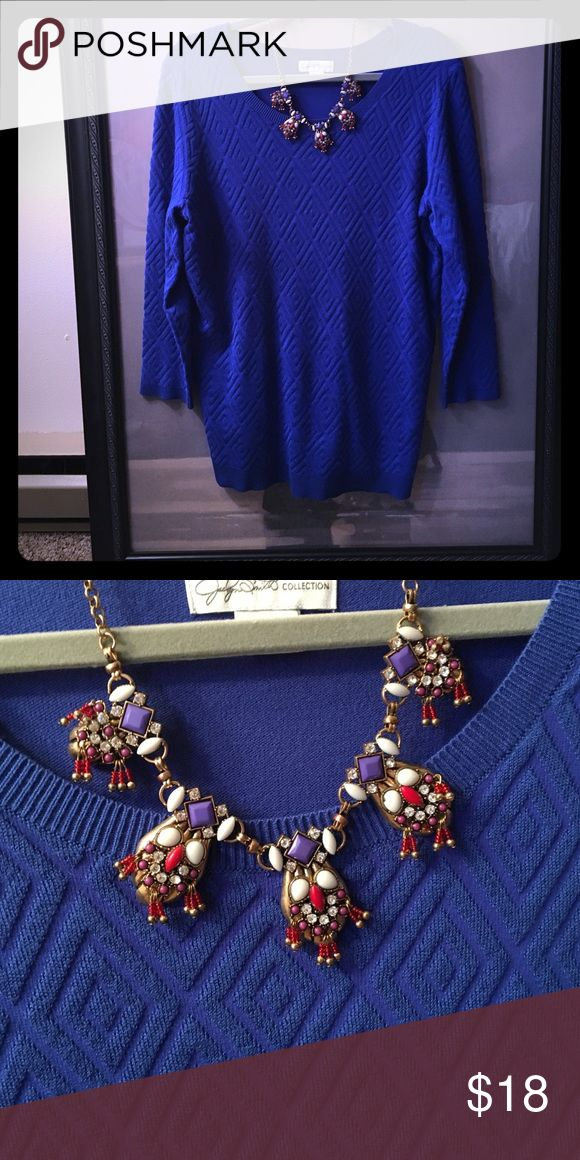 Royal Blue Sweater NWOT! In perfect condition and great for fall. 💙💙💙 Sweaters Crew & Scoop Necks
