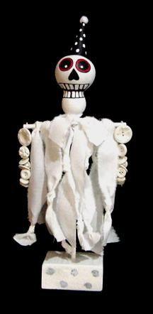 Skeleton Halloween Gourd Rattle.