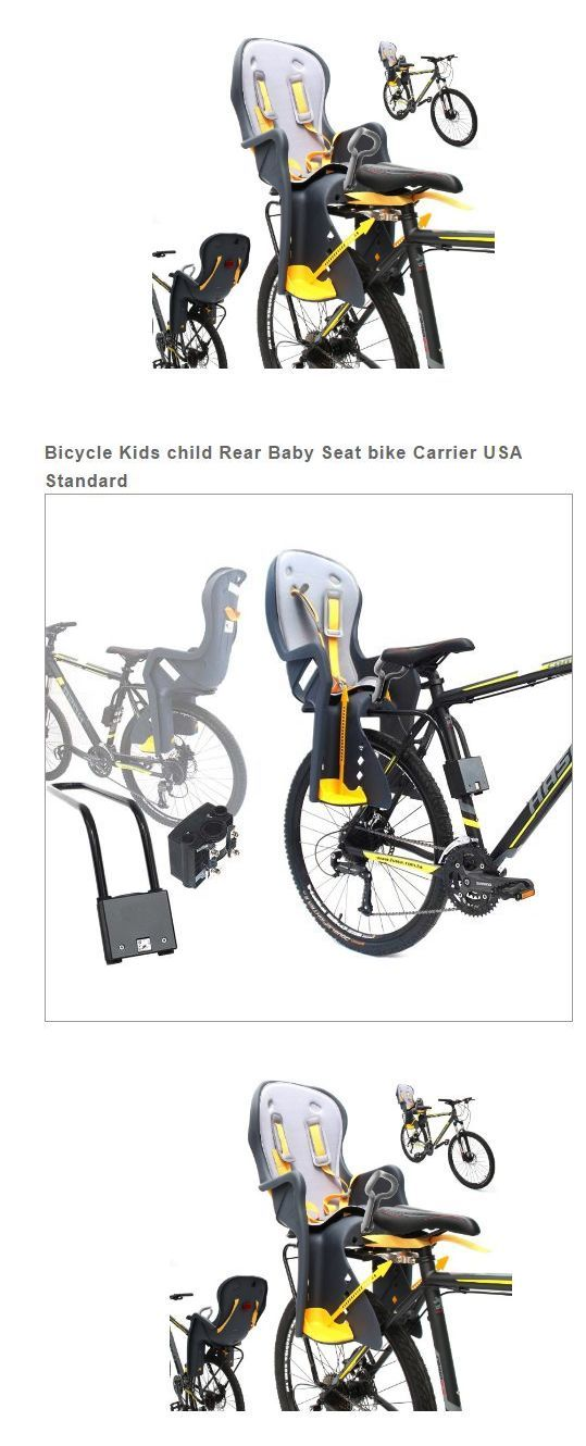 Child Seats 56808: Child Carrier For Bike Baby Seat Kids Bicycle Rear Rack Attachment Toddler Chair BUY IT NOW ONLY: $79.95