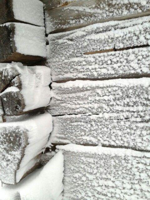 Detail van de schuilhut van Fulufjället Nationalpark