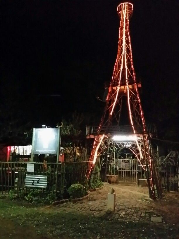 Eiffel tower Paljas Backpackers lodge Potchefstroom South Africa