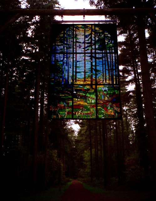 A better image of 'Cathedral' at the Forest of Dean sculpture trail.
