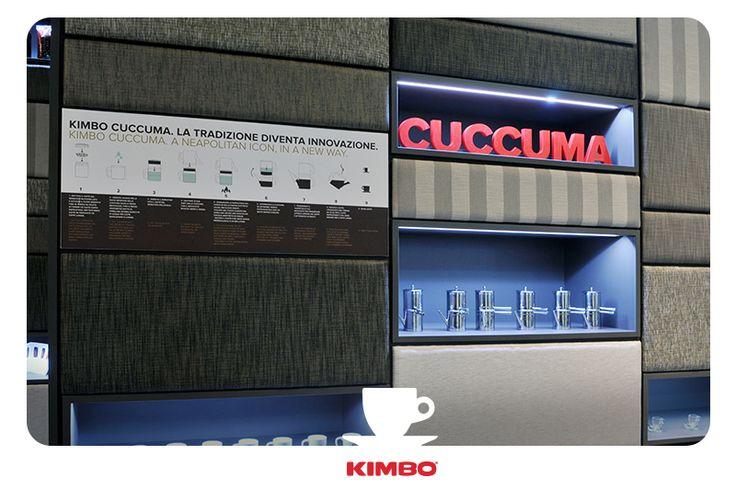 #Tuttofood2015: #Kimbo ha riservato un'area interamente dedicata alla #Cuccuma, l'antica caffettiera napoletana reinterpretata da #Kimbo, per portare la tradizione del #caffè napoletano nel mondo.