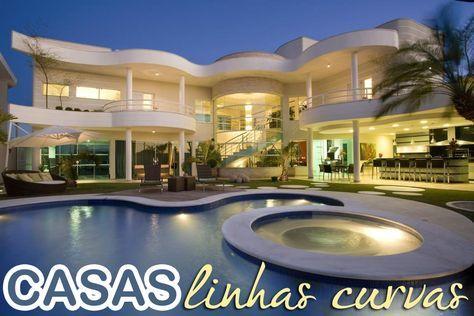 20 Fachadas de casas com linhas curvas - tendência na arquitetura!