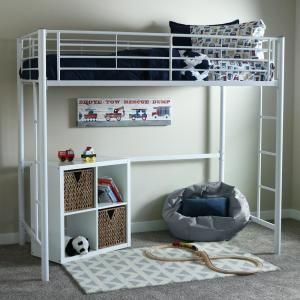 Walker Edison Furniture Company Sunrise Twin Metal Loft Bed-BTOLWH - The Home Depot