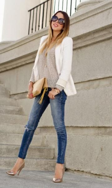 Look White Blazer
