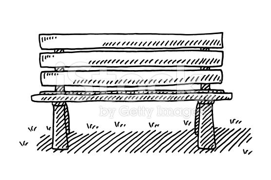 Draw Park Bench: Park Bench Drawings Images