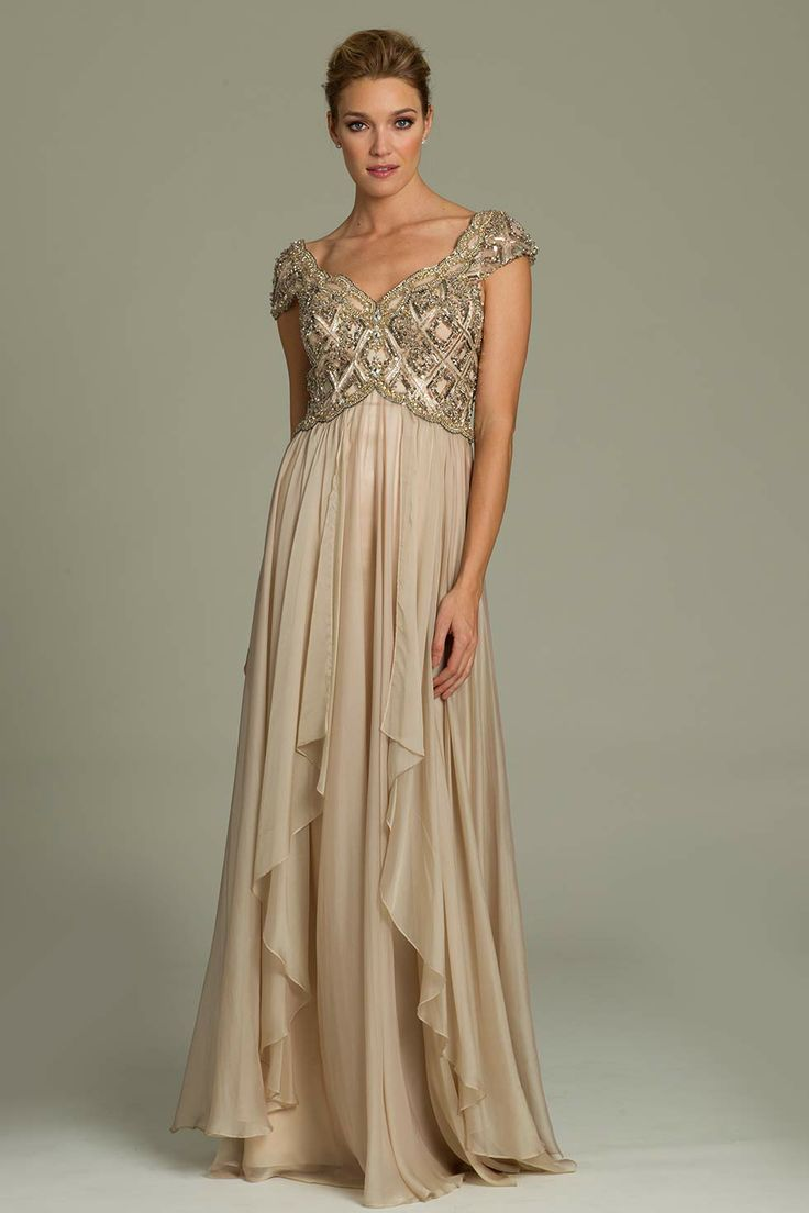 Jovani Evening Dress - 78246 - Nude - (Also in Blue)