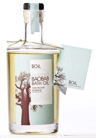 Balancing Baobab Bath Oil Sit back and let this luxurious bath oil moisturise and nourish the skin, with Baobab to improve the skin's elasticity and radiance. While essential oils of Rose Geranium and Sandalwood balance and restore the senses.  Directions: Pour a generous amount of oil into warm bath water and soak while breathing in the aroma.
