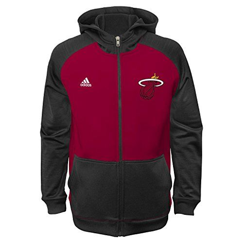 Miami Heat Youth Adidas NBA 2014 Pre Game OnCourt Hooded Full Zip Sweatshirt *** See this great product.